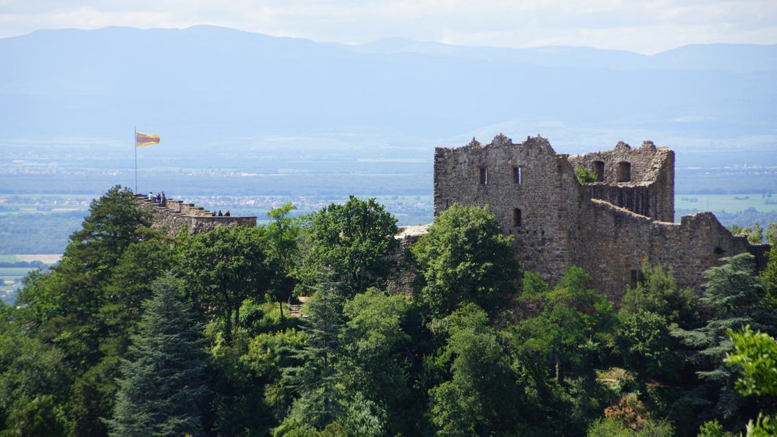 Die Burg Badenweiler mit Panoramasicht; Foto: Badenweiler Thermen und Touristik GmbH