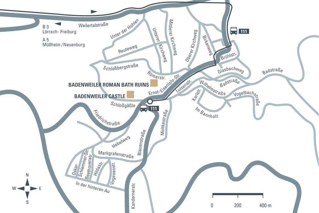 journey description: Badenweiler Castle, illustration: Staatliche Schlösser und Gärten Baden-Württemberg, JUNG:Kommunikation