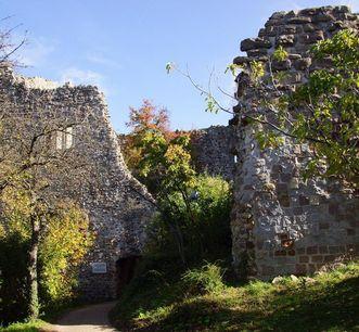 Teilansicht der Burg Badenweiler; Foto: Badenweiler Thermen und Touristik GmbH, Karin Schmeißer