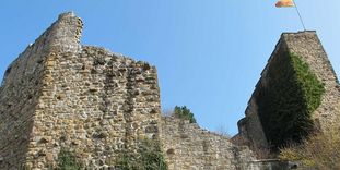 Aufsicht zur Burgruine Badenweiler
