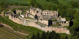 Château-fort Hochburg d'Emmendingen, Vue aérienne