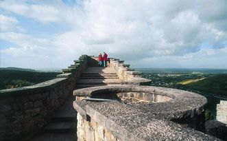 From the ruins, there are sweeping views over the Rhine Valley and the Black Forest