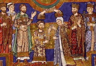 Evangeliar Heinrichs des Löwen mit Krönungsszene