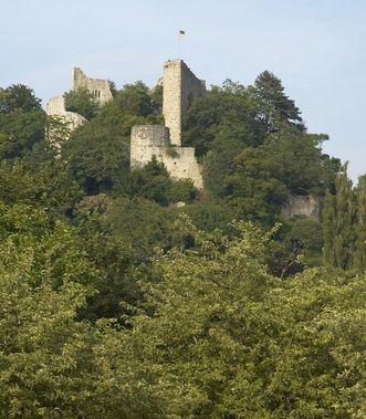 Ansicht der Burg Badenweiler; Foto: Badenweiler Thermen und Touristik GmbH
