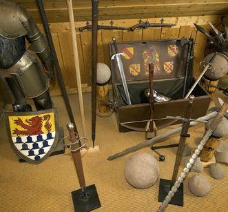 Waffen aus dem Museum auf der Burg Rötteln